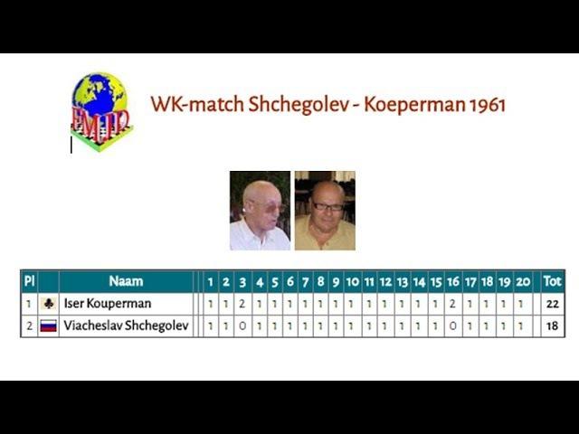 WK-match Shchegolev - Koeperman 1961