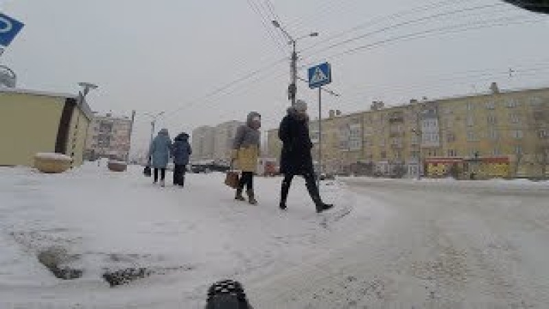 По свежему снежку на левый берег Schwalbe Ice Spiker Pro г Омск Город глазами велосипедиста 95