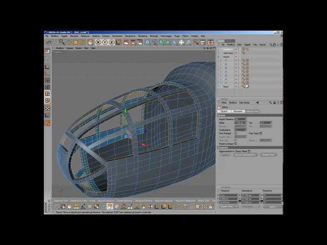 Cinema 4D tutorial - B25 - Part 03 Detail - nose -