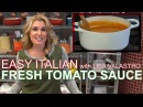 How to Make Fresh Tomato Sauce | Easy Italian w. Lisa Valastro Ep02
