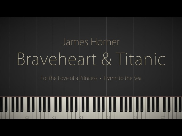 Braveheart Titanic: Piano Suite - A James Horner Tribute \\ Synthesia Piano Tutorial