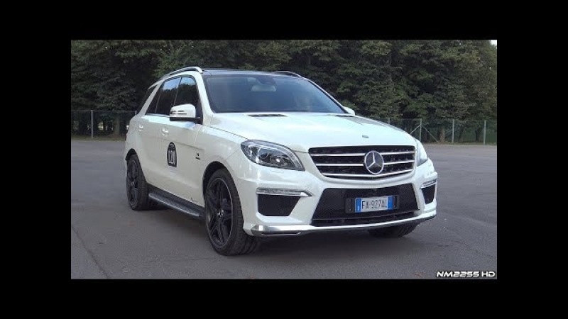 Mercedes ML63 AMG V8 Bi-Turbo with Capristo Valvetronic Exhaust LOUD Sounds!