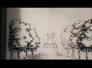 Продолжение истории с рисованием пером и тушью на стене Drawing ink and pen wall