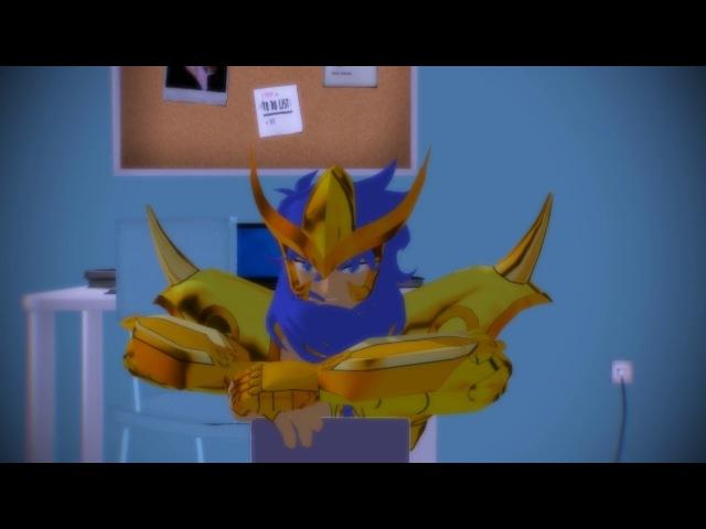 [MMD] Pijamada del terror - Saint Seiya parody