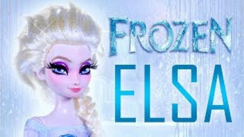 Elsa Doll Repaint [ FROZEN OOAK ]