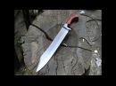 Forging a Messer form a semi truck leaf spring