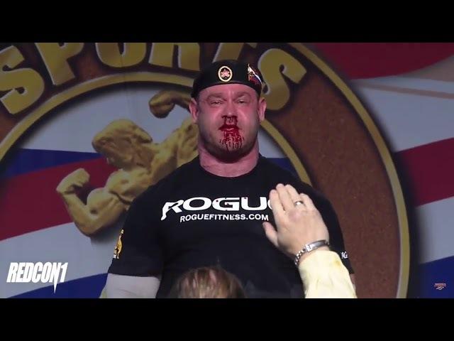 Русский морпех Михаил Шивляков 426kg deadlift at 2018 Arnold Strongman Classic