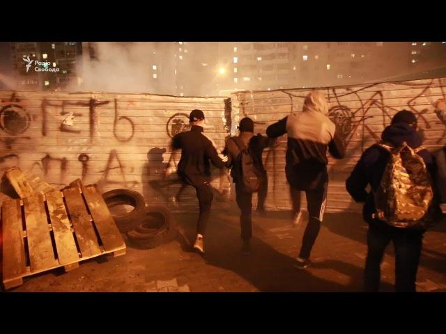 У Києві активісти розгромили АЗС, яку вважають незаконною