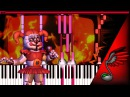 SayMaxWell Children's Destiny FNAF Song Piano Tutorial by MicroNoize Synthesia HD