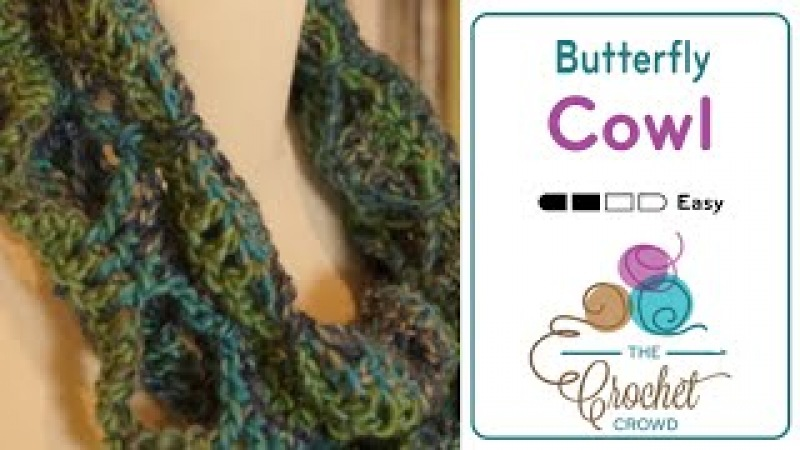 How To Crochet an Infinity Scarf: Butterfly Infinity Scarf