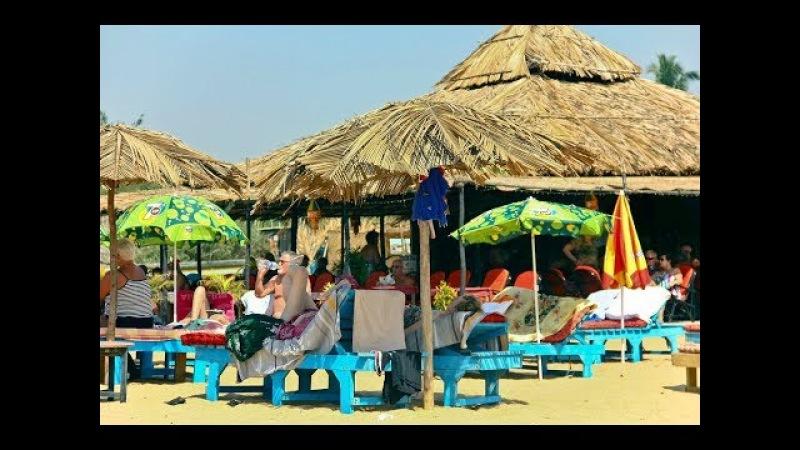 Пляж Кандолим, обед в шеке. Индия, Гоа, декабрь 2017