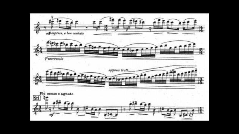 Castelnuovo Tedesco Mario mvt1 begin 2nd violin concerto