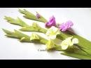 DIY Paper Gladiolus flower from crepe paper Hoa lay ơn giấy nhún