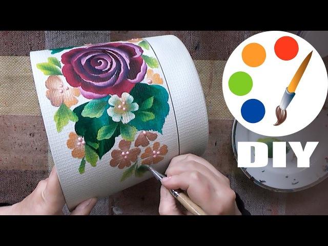 DIY, Flower pot decoration idea, speed painting, irishkalia