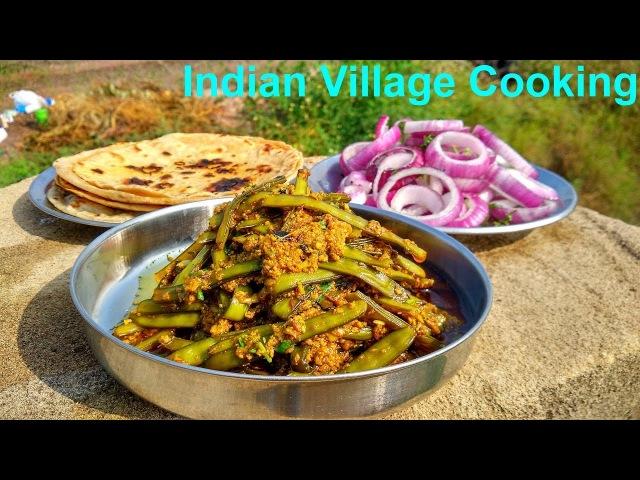Subji, Roti and Salad Making | Indian village Cooking | Village Recipes