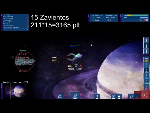 New private server WarUniverse v0.7.3 Star Missions - zone Protos