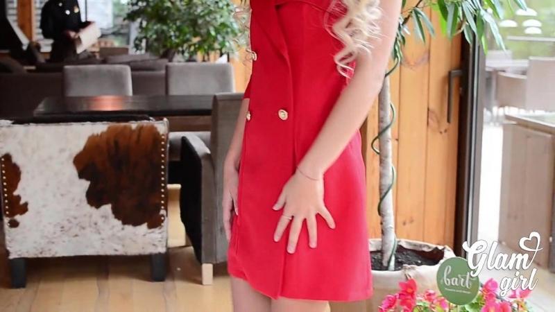 Оригинальное стильное платье с открытым плечом