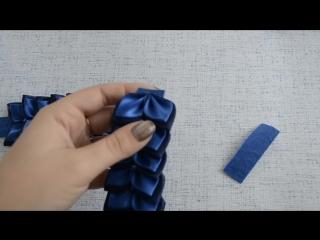 Резинка на гульку из лепестков канзаши Мастер класс
