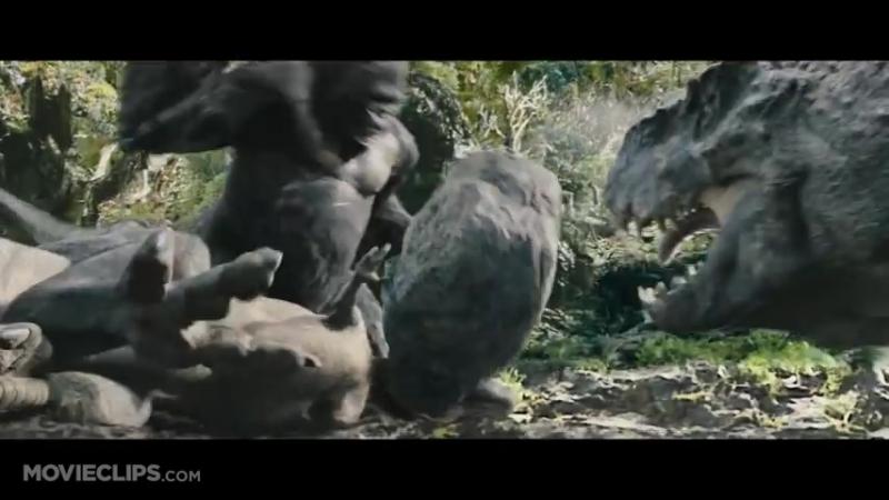 King Kong (3-10) Movie CLIP - Kong Battles the T-Rexes (2005) HD_HIGH.mp4