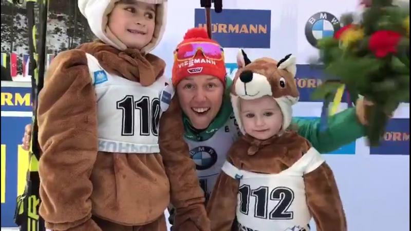 DSV Biathlon - Juhuuuuu! 📣 Staffelsiegerin Laura Dahlmeier