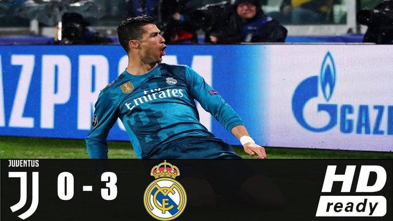 JUV vs RMD 0-3 | All Goals Highlights | 03/04/2018 HD