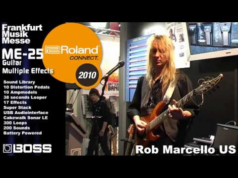 ME-25 Guitar Multiple Effects Part 1 Musikmesse 2010 Booth Demo