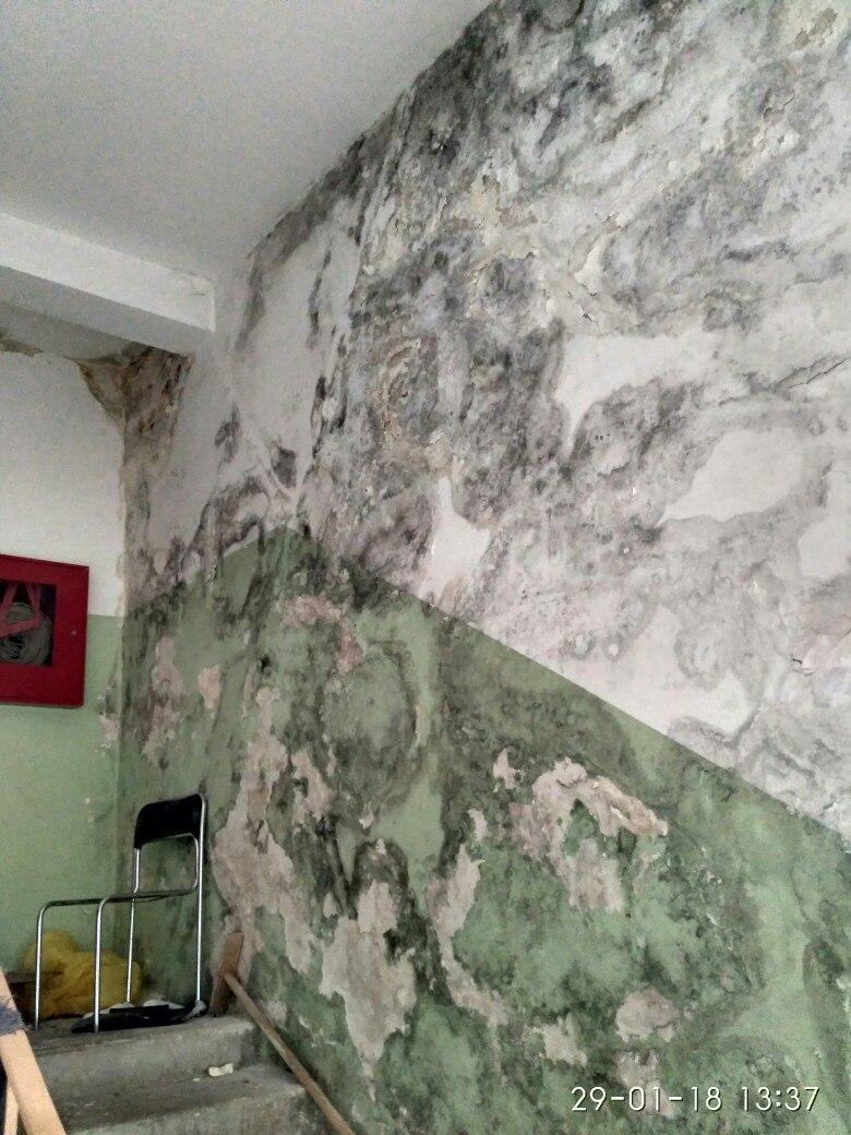 Некоторые помещения детской поликлиники в Советске охватила сырость
