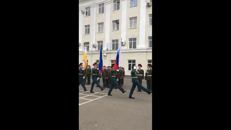 Внос флагов 21.10.2017 КВВАУЛ