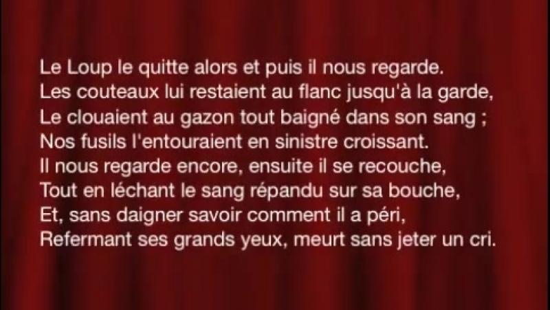Alfred de VIGNY - LA MORT DU LOUP