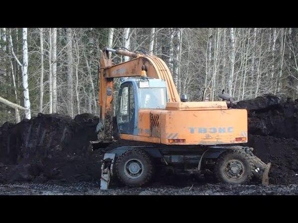 Чёрные землекопщики котлованы роют