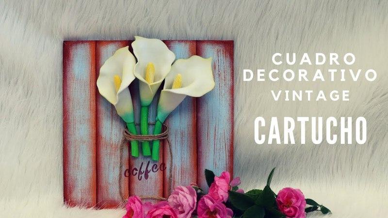 Gemas Foamy_Diy Cuadro decorativo Vintage Cartuchos