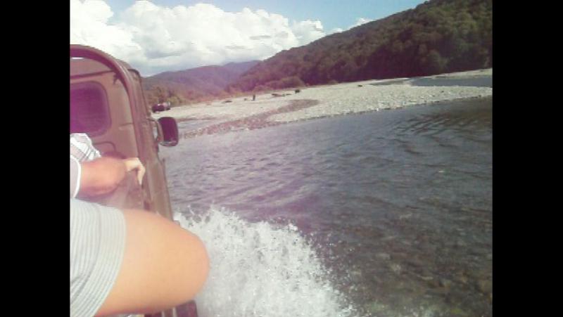 Джипинг на шишигах (ГАЗ-66), урочище Джегош, река Шахе.