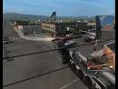 American Truck Simulator- железная дорого ска машин я сигнал сразу лол чуваки)