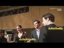 Tessa and Scott with Domo-kun banquet