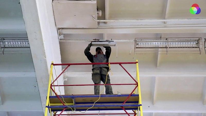 Монтаж светодиодных светильников Бриз 100 ССдП 02 100 001 IP65