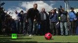 Петер Шмейхель принял участие в открытии Парка футбола ЧМ-2018 в Саранске