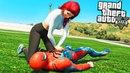 ДЕВУШКА СПАСЛА ЧЕЛОВЕКА ПАУКА РЕАЛЬНАЯ ЖИЗНЬ СУПЕРГЕРОЯ ГТА 5 МОДЫ ОБЗОР МОДА GTA 5 видео игра mods