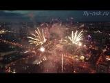 Салют Новосибирска 9 мая 2018год. С Квадрокоптера (Дрона) 4K