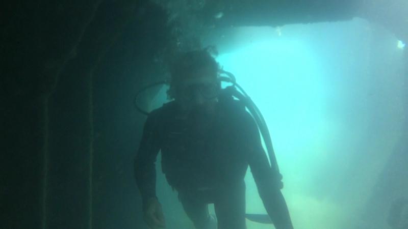прогулка по затонувшему кораблю