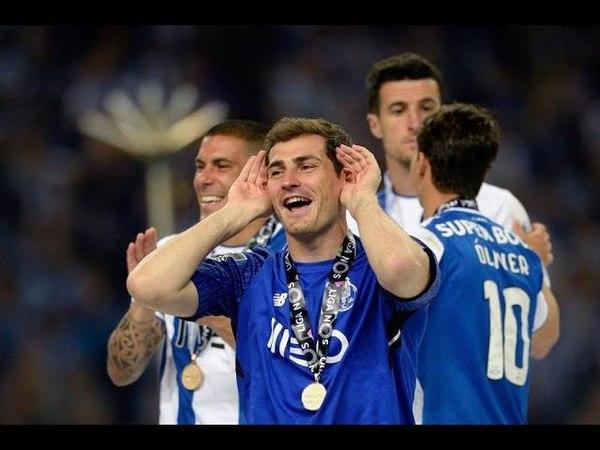Iker Casillas Celebrating the title of F C Porto LIGA NOS 2017 18 HD