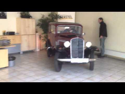 Unser Opel P4 bei der Heimkehr in den Showroom (HD)