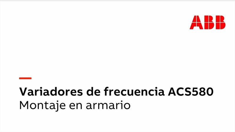 ACS580 - Montaje en armario del módulo de variador