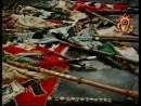 Фашистские знамёна брошенны к мавзолею ЛЕНИНА.