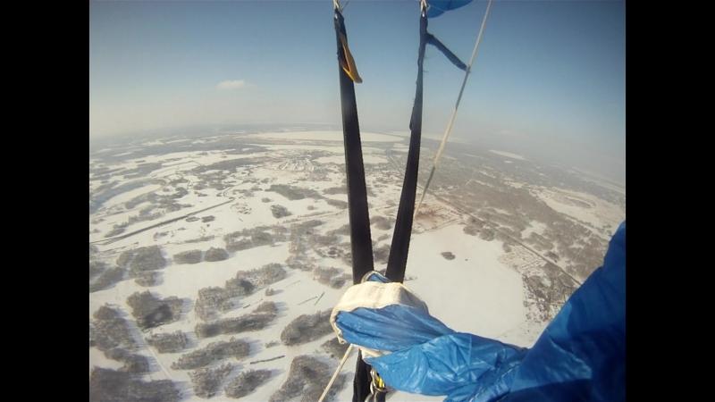 23.02.2018. Точность приземления 1-й прыжок