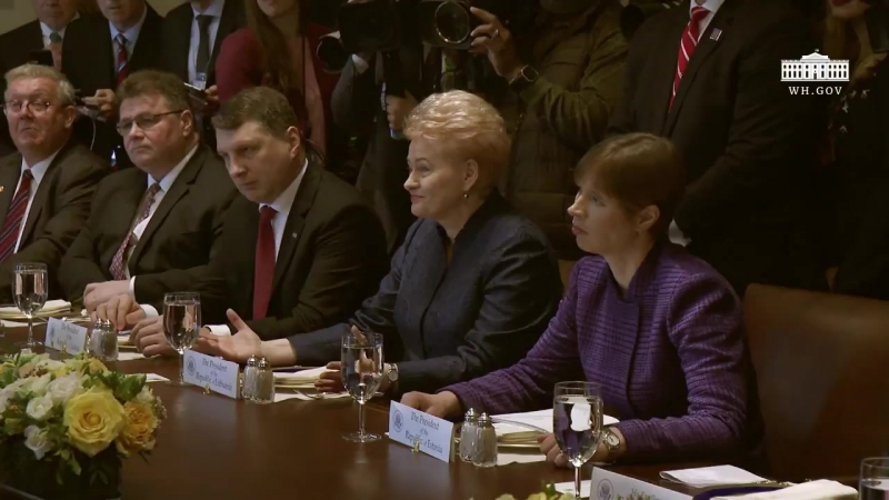 President Trump Participates in a Working Lunch with the Baltic States Heads of Government [2018.04.03]