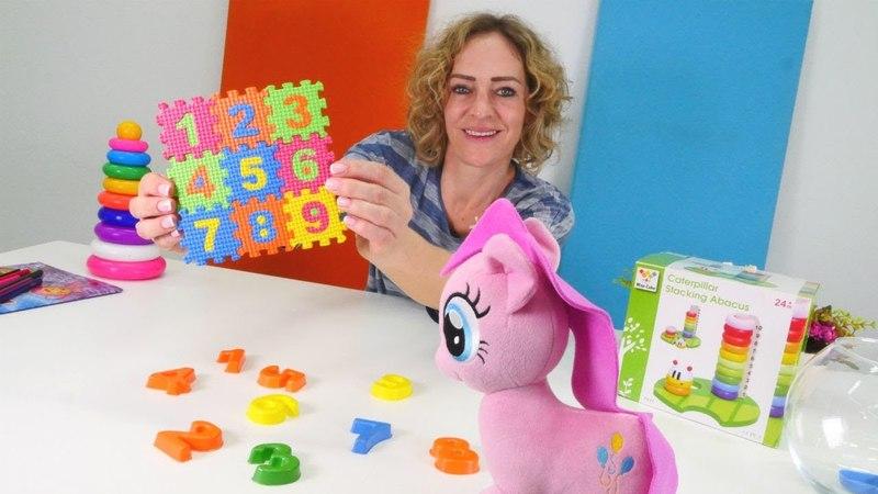 Pinkie Pie sayıları öğreniyor. Eğitici ve eğlenceli video.