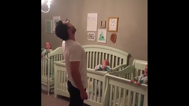 Daddy Derek and the triplets