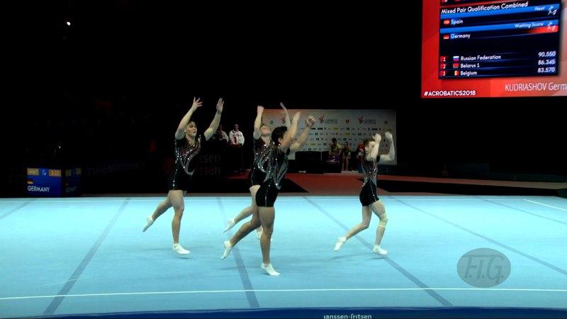 Russian Federation (RUS) - 2018 Acrobatic Worlds, Antwerpen (BEL) - Combined Men's Group