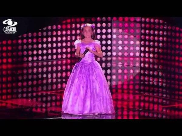 Laura Daniela cantó 'Me gusta mucho' de Juan Gabriel - LVK Colombia- Audiciones a ciegas - T1