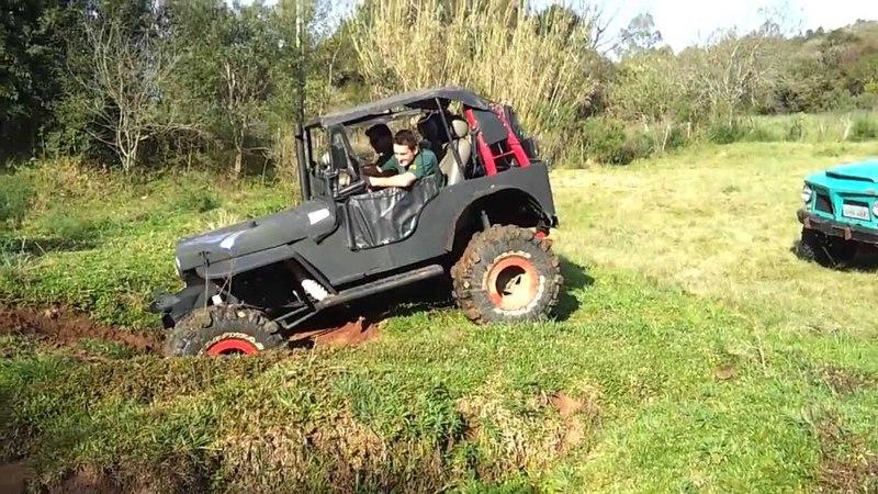 Pampa Jipe Clube, Trilhazinha Willys 4.1 GM Turbo Morcha com Dudu na Pilota